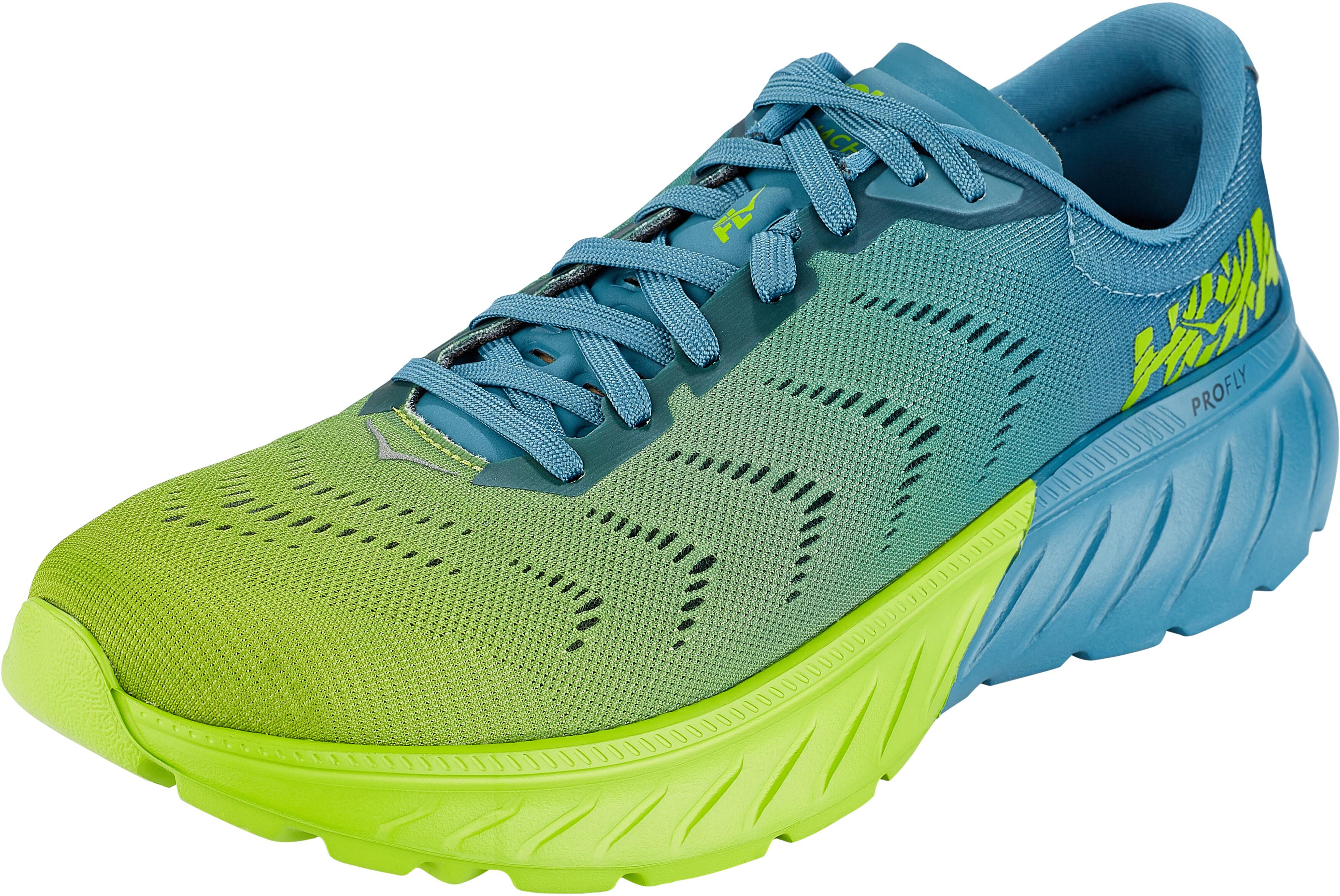 more photos a27bd 56bd6 Hoka One One Mach 2 Running Shoes Men storm blue/lime green